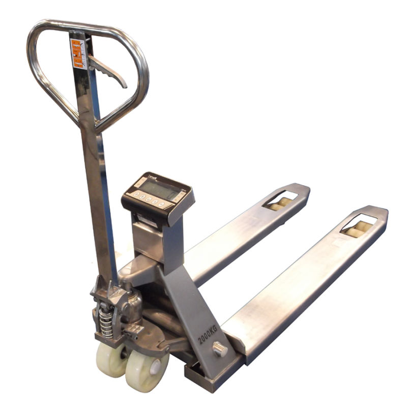 Stainless Steel Hand Jack : China stainless steel pallet jack scale weighing