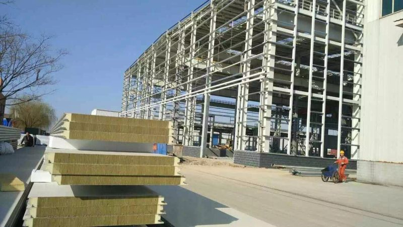 Fire Resistant Rockwool Mineral Wool Sandwich Panel