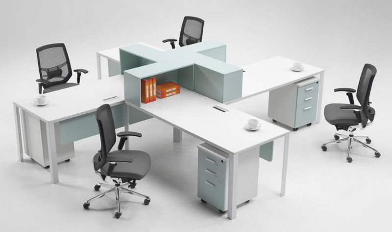 stylish office. stylish office cubicle for 4 people y