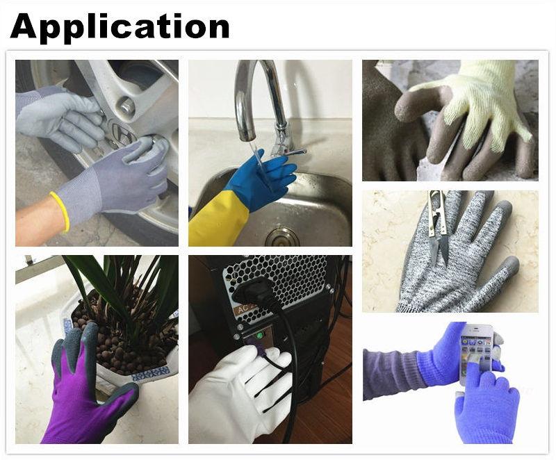 13 Gauge Nylon/Spandex Liner, Ppu (Pure water based polyurethane) Coating