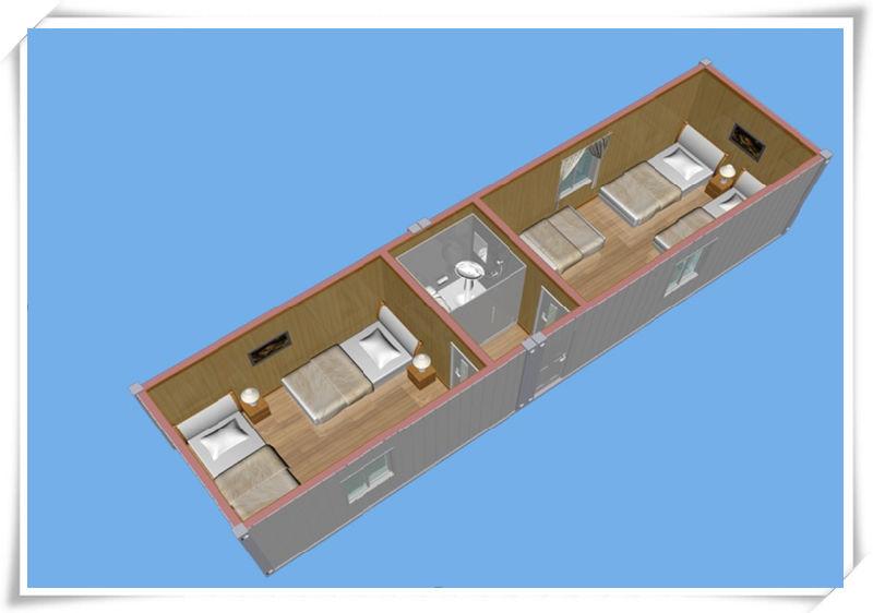 40 pieds de chambre confortable de conteneur 40 pieds de for Maison conteneur 40 pieds