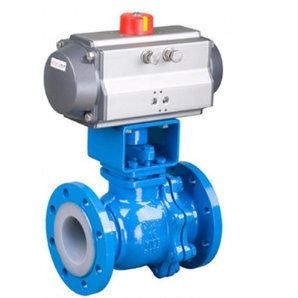 PTFE Lined Pneumatic O-Port Ball Valve (Q641F46)