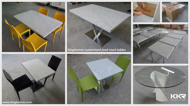 Table basse blanche ext rieure solide en pierre for Table exterieur solide