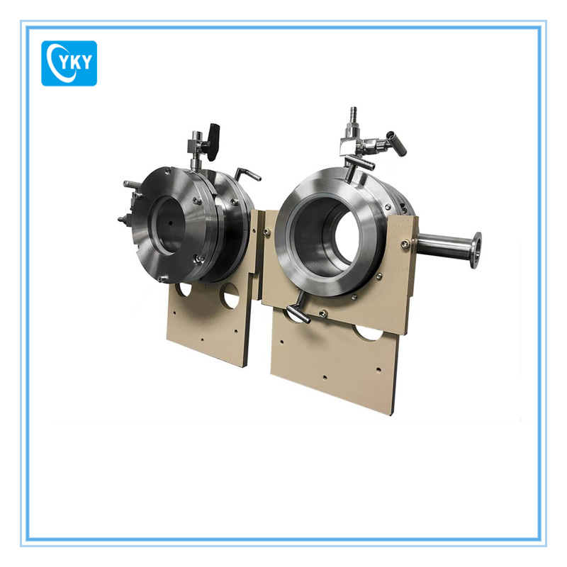 Hinged Vacuum Sealing Assembly with Flange Support for 101 mm Dia Tube Furnace