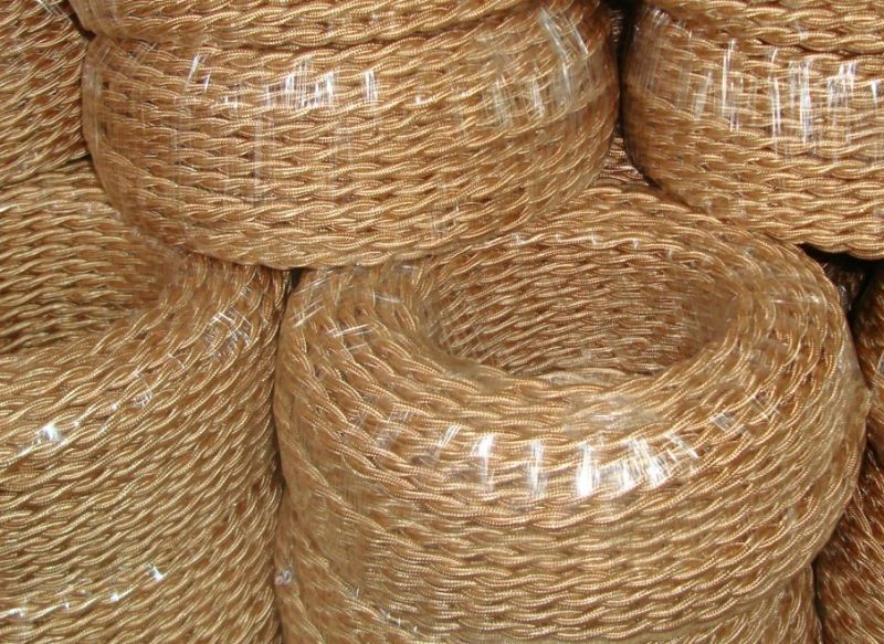Braided Copper Cable : China braided electrical wire copper cable power