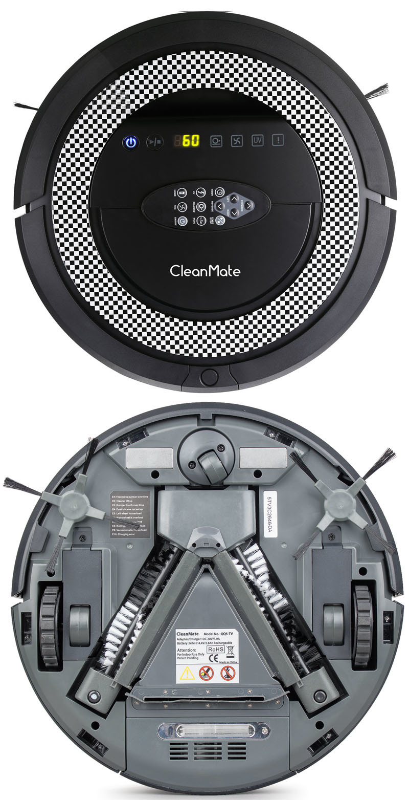 Newest Automatic Cleaner with UV Light, Auto-Recharging, Virtual Wall, Robot Vacuum Cleaner