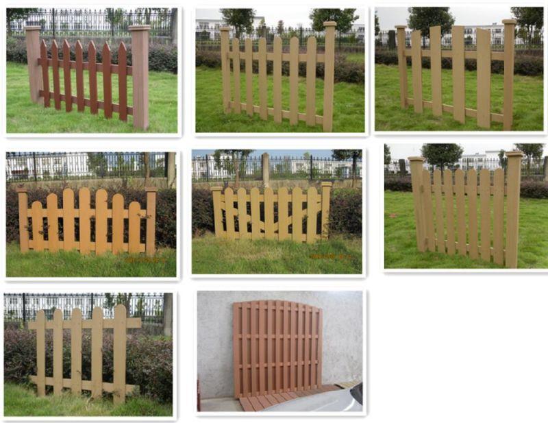 Cerca compuesta plástica de madera al aire libre del jardín ...