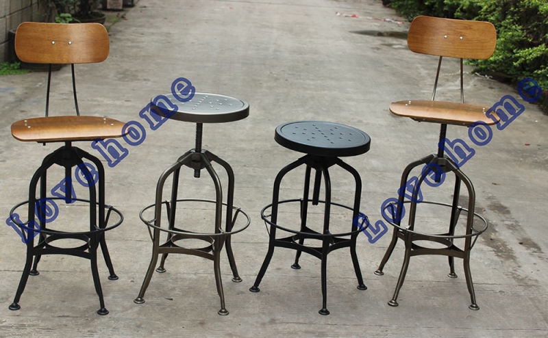 China replica industrial metal restaurant dining furniture