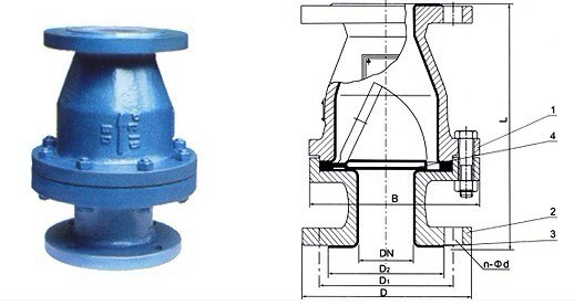 FEP/PTFE/PFA Lined Swing Check Valve (H44F)