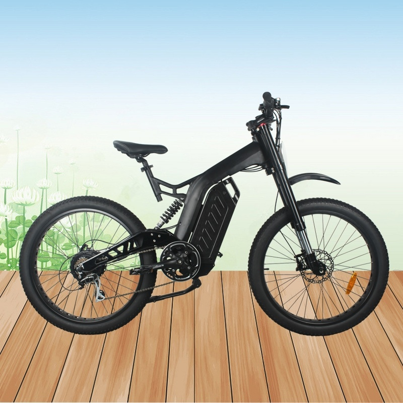 1000W Powerful Mountain Electric Bike with Dual Suspension Fork
