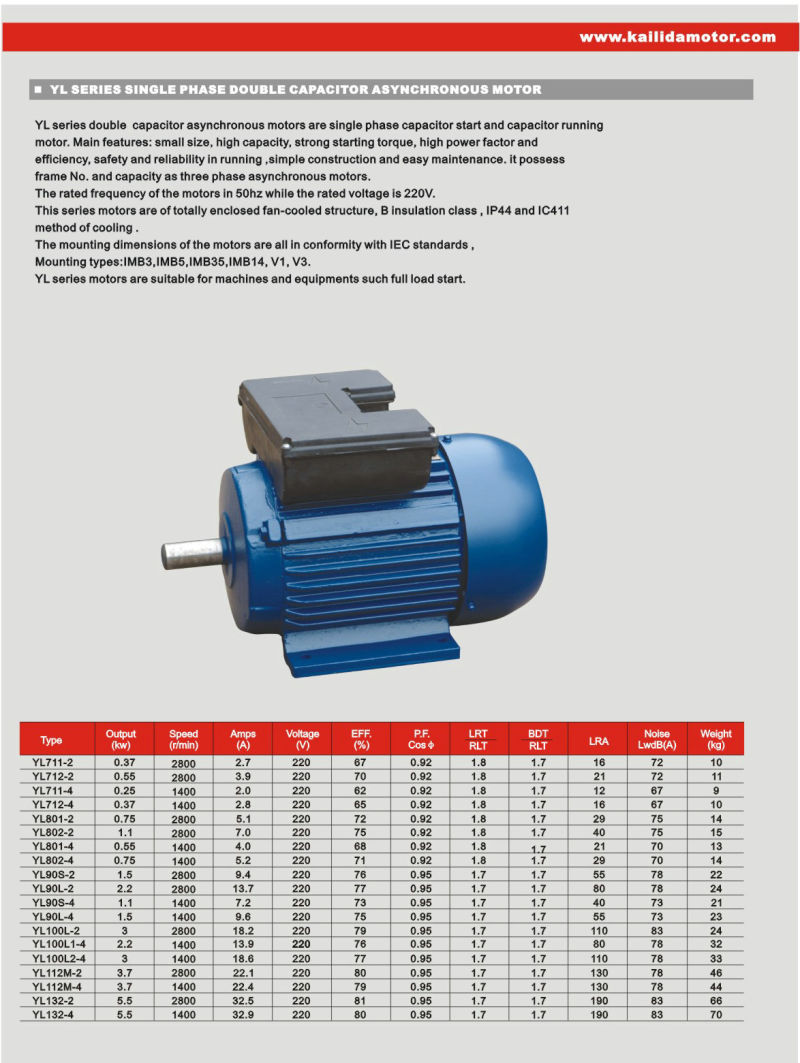 Made in for Single phase capacitor start motor