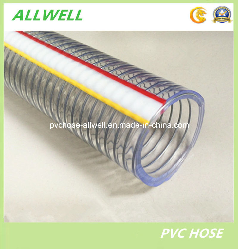 China pvc plastic steel wire reinforced hose water garden