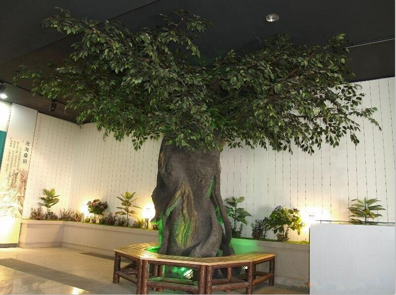 Grand arbre artificiel d 39 usine de ficus de la meilleure for Arbres artificiels interieur