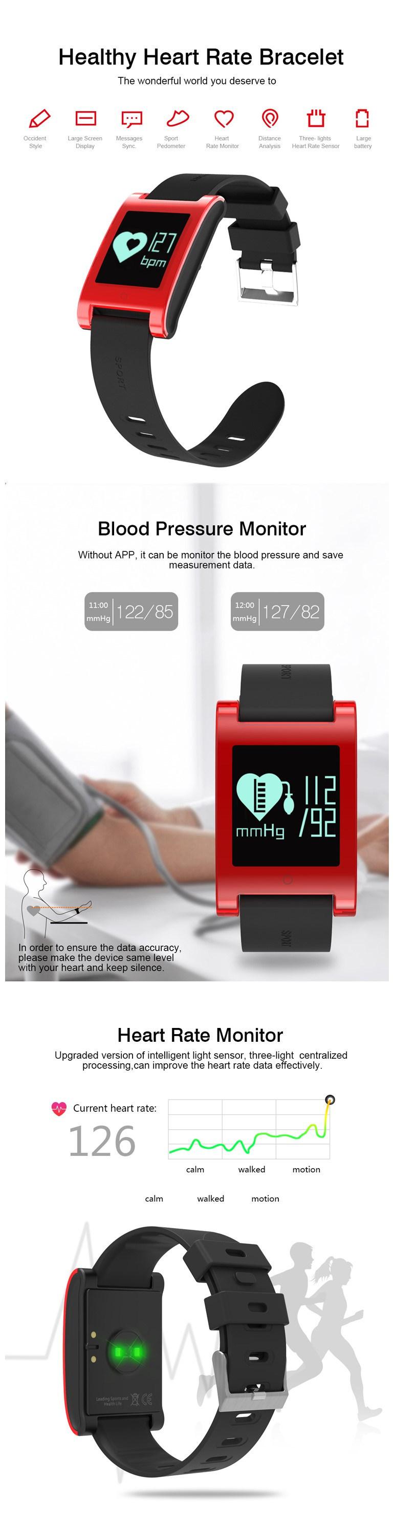 Activity Tracker Smart Bracelet Wearable Technology, Dynamic Heart Rate Monitor Sport Fitness Bracelet