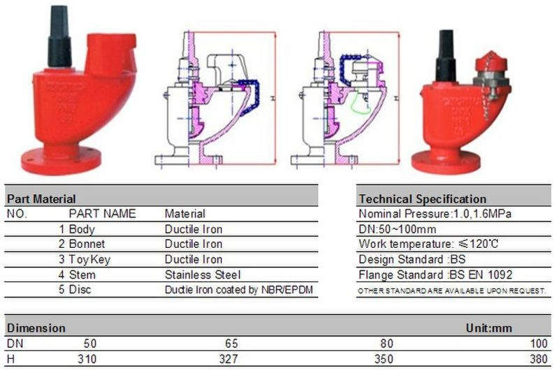 Fire Hydrant with Bs750 Standard