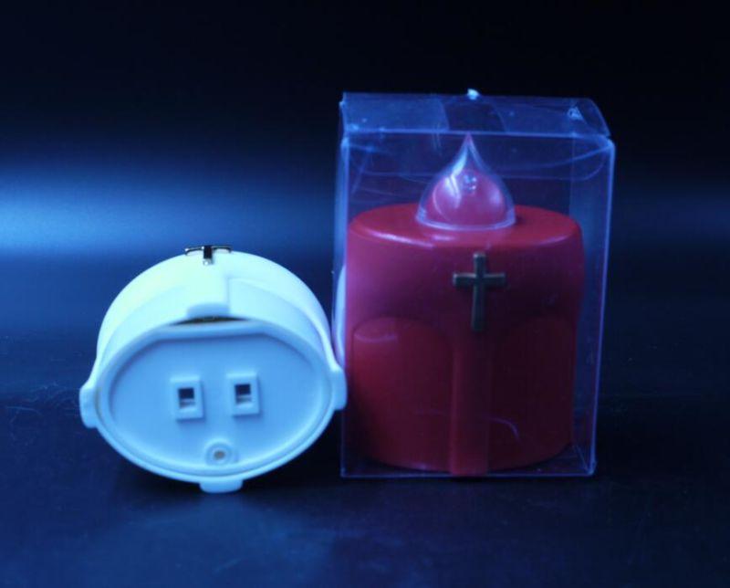 bougie grave blanche en plastique de la lumi re del avec la batterie ge 500 bougie grave. Black Bedroom Furniture Sets. Home Design Ideas