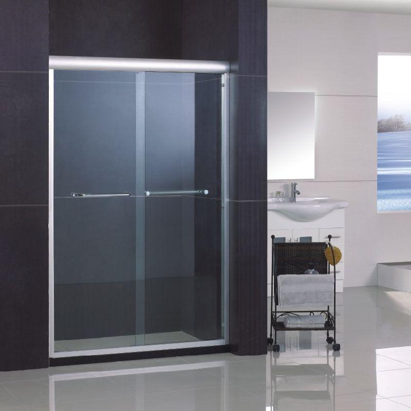 5 foot shower door frameless sliding shower door for 5 ft sliding glass door
