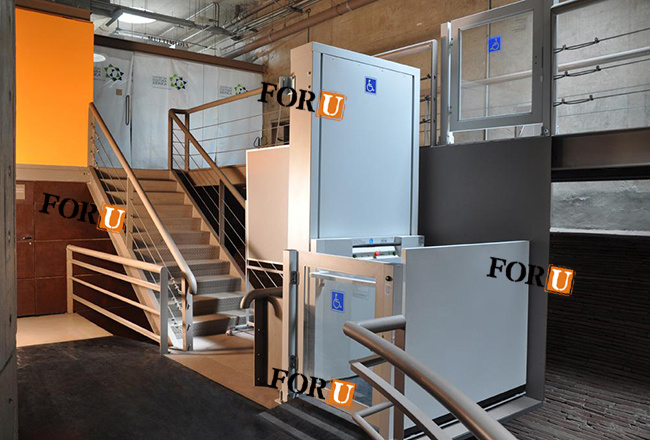 Freedom Hydraulic Vertical Disabled Wheelchair Lift Elevator for Home