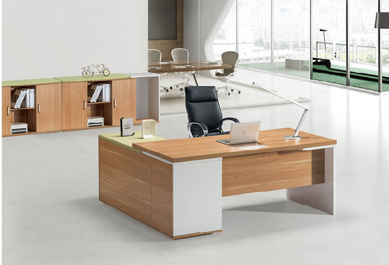 China Modern Office Manager Desk With Modesty Panel Director