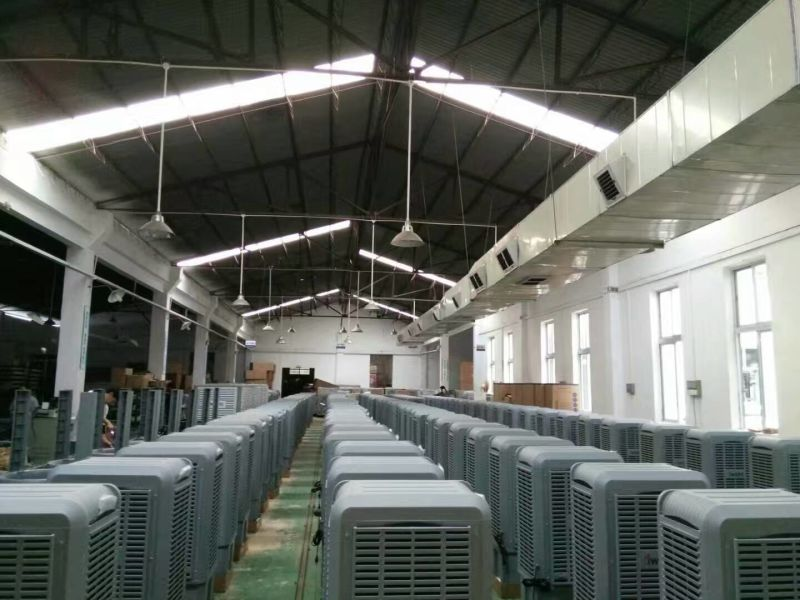 Window Mounted Evaporative Air Cooler Airflow Small Industrial Air Cooler Water Cooling Air Conditioner