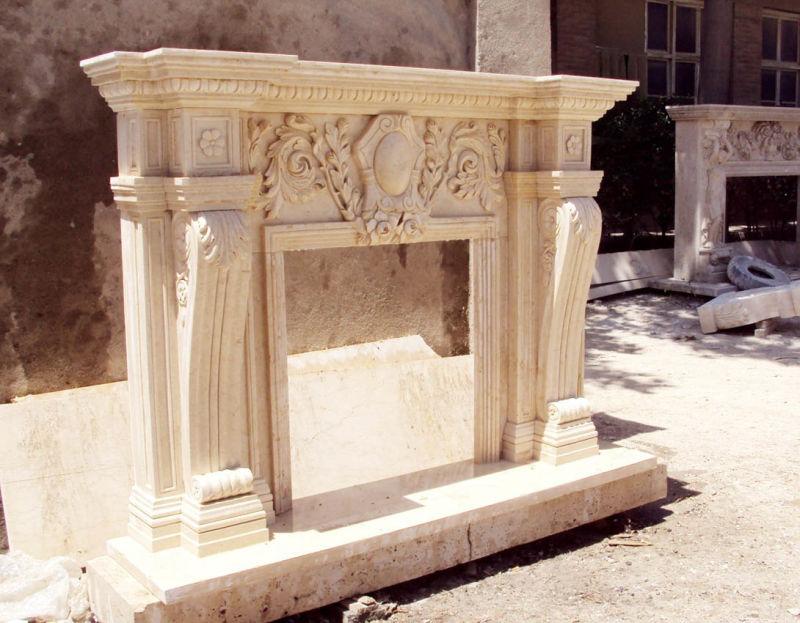 piedra chimenea talla material piedra travertino natural tallada a mano pulido tamao lcm o de acuerdo con requisito embalaje embalaje de madera