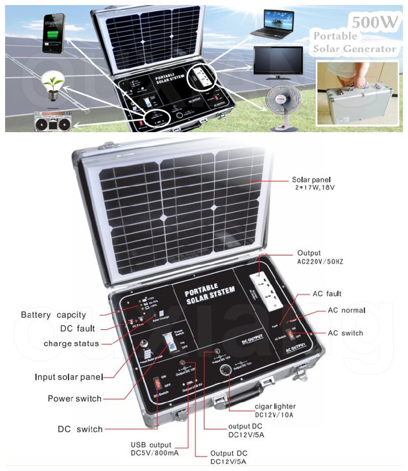 China 500w Portabel Mobile Solar Power Station Home Solar