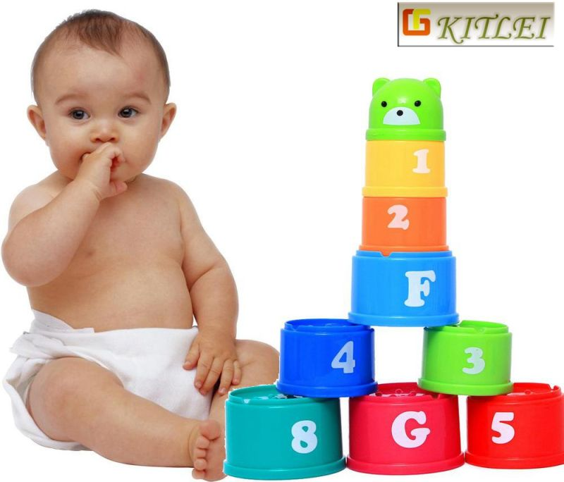 Baby Intelligence Toys ABS Material Colorful Cartoon Car Toy