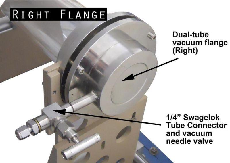 Laboratory Flexible Metal Foil Electrode Preparation 1200 Celcius Single/Multi Heating Zone Double Tube Slide CVD System