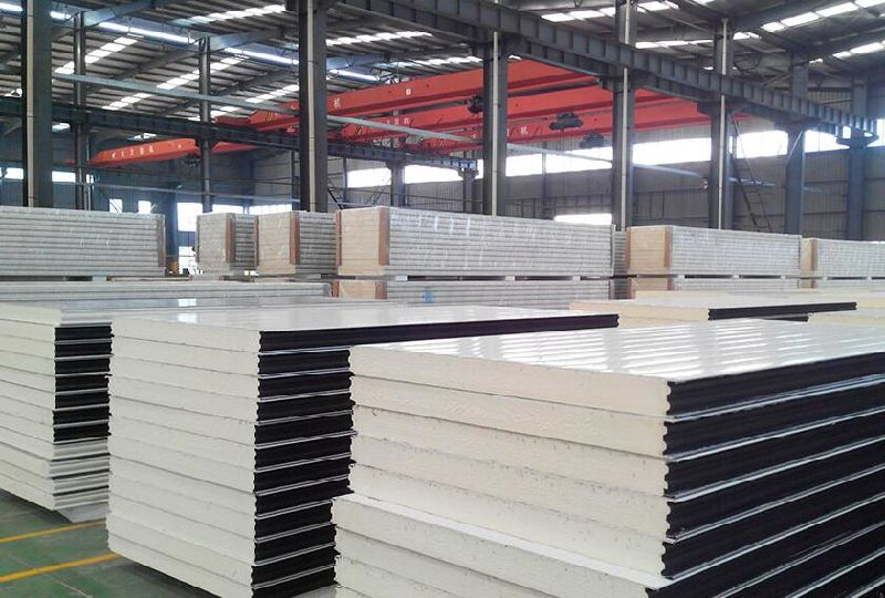 Decorative Polyurethane Foam Metal Sandwich Panel for Cold Storage/Room
