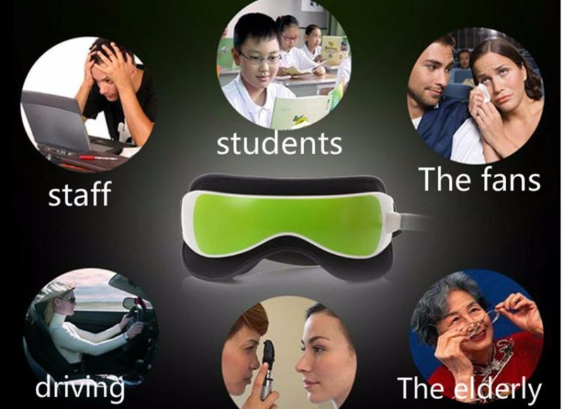 New Vibration Air Pressure Infrared Heater Eye Massager Massage Glasses Built-in Music