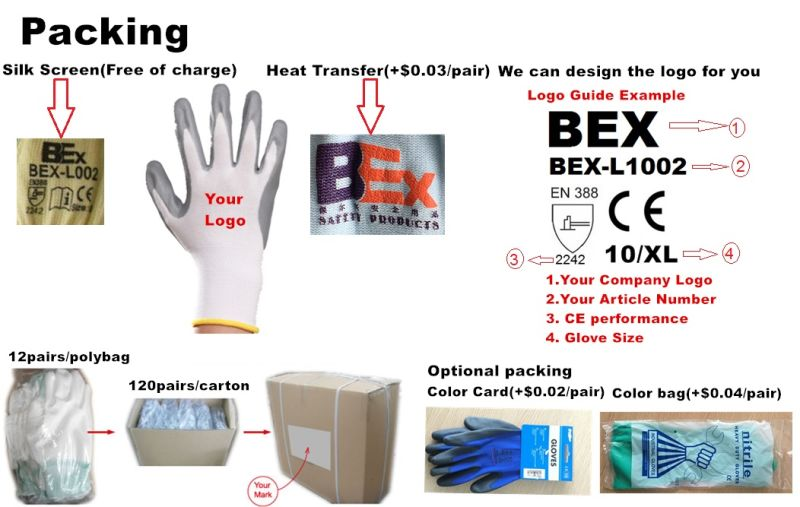 7 Gauge Acrylic Thermal Liner Plus 13G Nylon Outer Liner, Latex Coating, 3/4, Foam Finish
