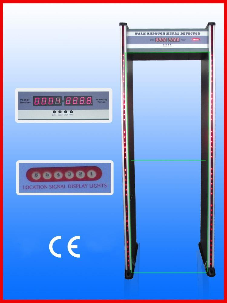 High Sensitivity Metal Detector, Walk Through Metal Detector Door, Door Metal Detectors Jls-200 (6zones/LED display/2 LED gatepost)