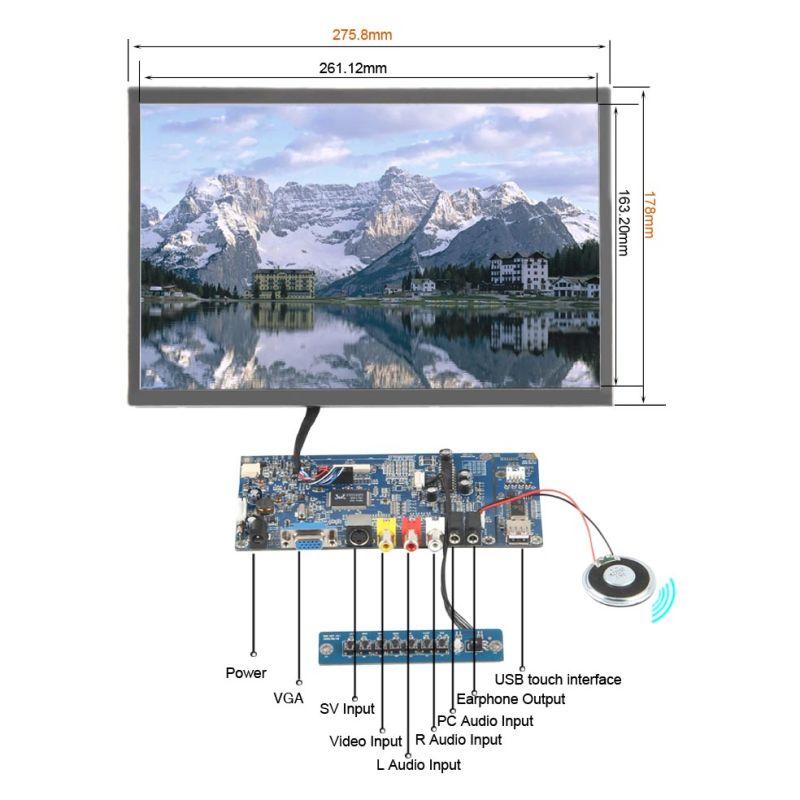 Resolution 1280X800 TFT LCD SKD 12.1