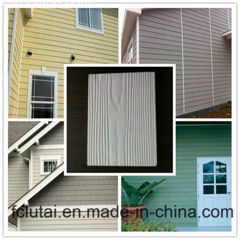 Stamped Concrete Siding : China wood grain external decorative fiber cement siding