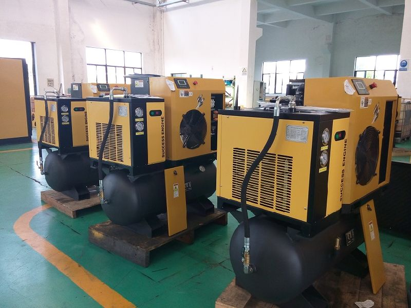 Integrated Packaged Screw Air Compressor (with tank & dryer) - 10HP