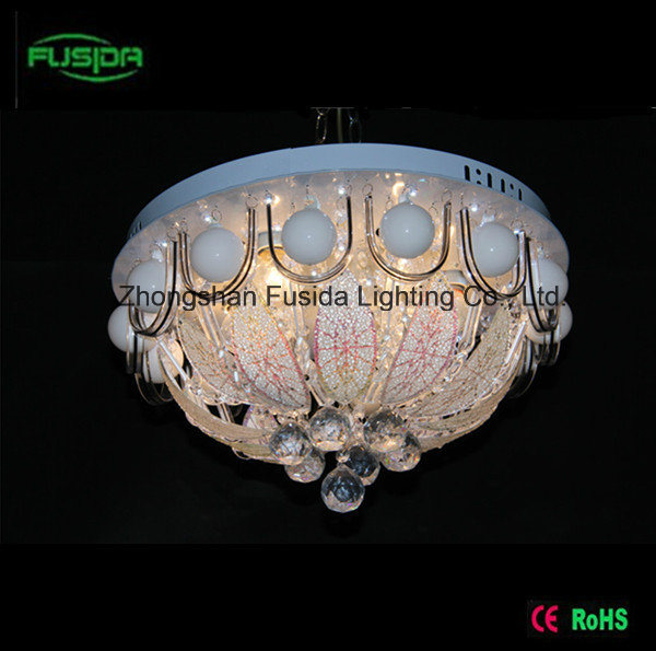 China 2015 New Design Glass Crystal Ceiling Light 450mm with MP3 ...