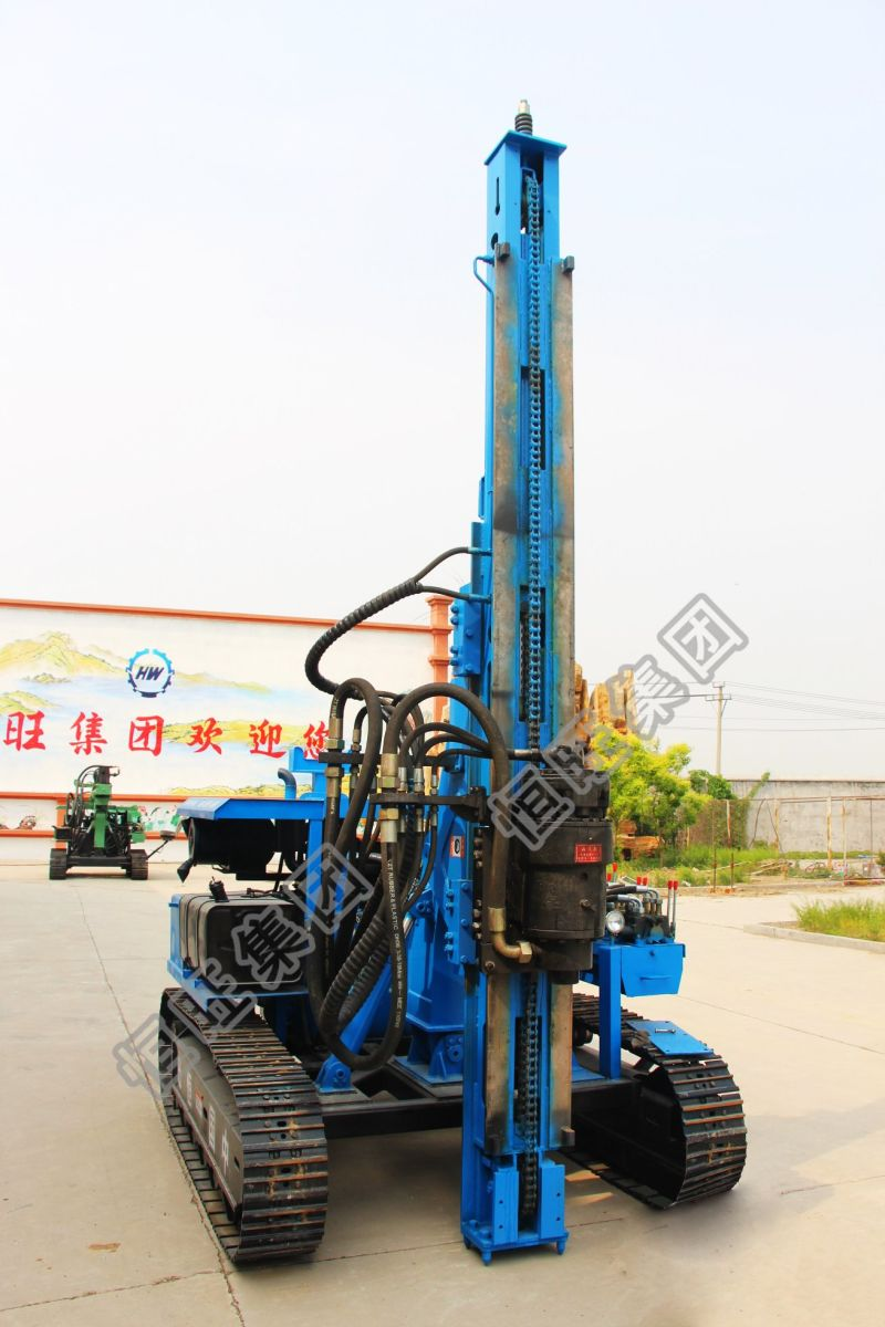 Solar Power Station Crawler Type 4m Hydraulic Press Pile Driver