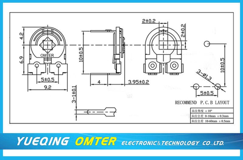 Sr-085lx Trimmer Potentiometer