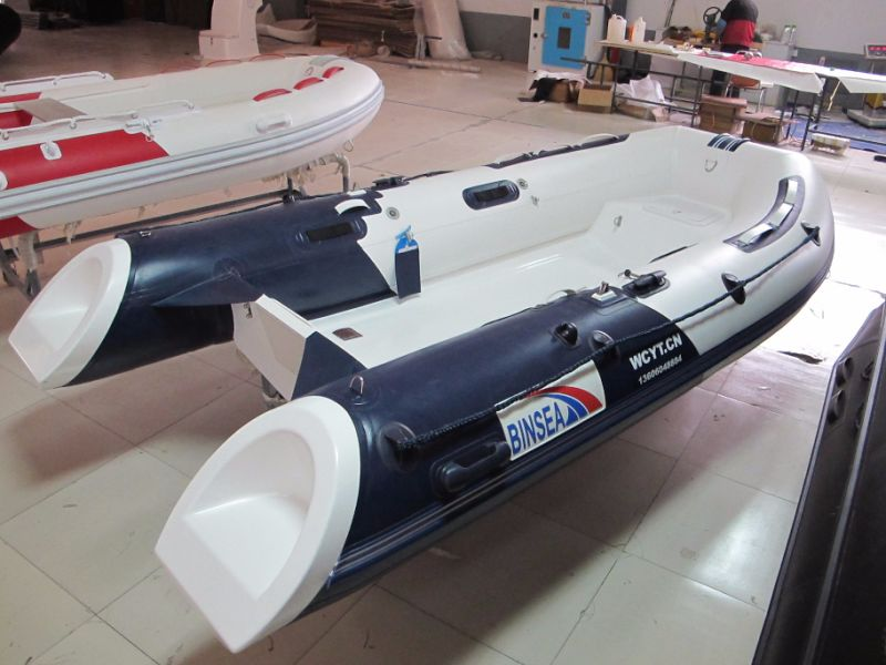 China small cheap inflatable rib boat rescue motor boat for Small boat motors cheap