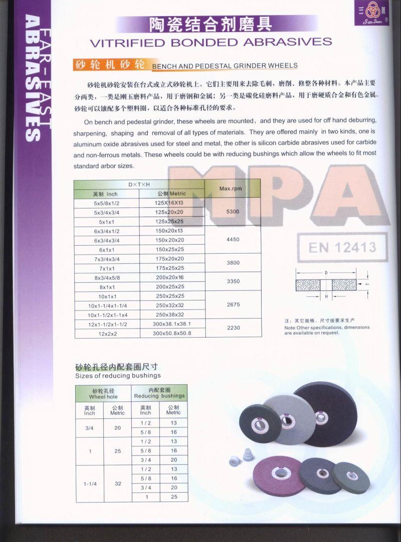 China Ceramic Grinding Wheel Bench Grinding Wheel