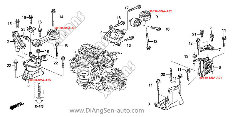 audi 4 2 engine block drawing