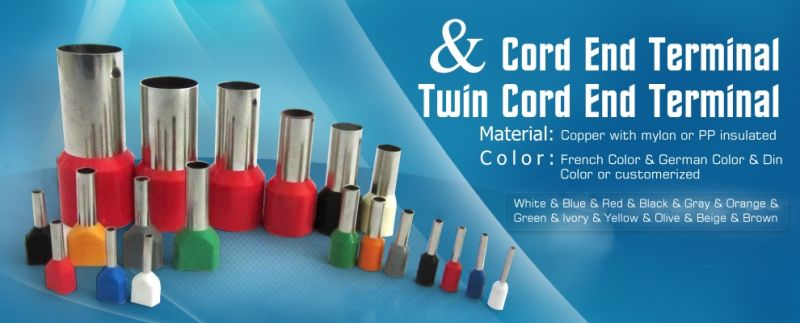 TE Series Nylon Insulated Twin Cord End Terminals