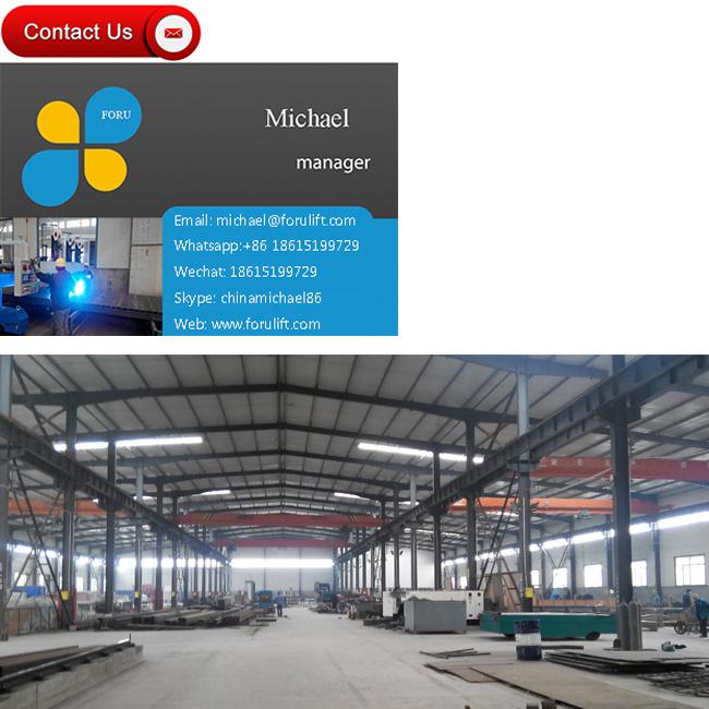 2500kg 4m Hydraulic Electric Warehouse Material Scissor Cargo Lift