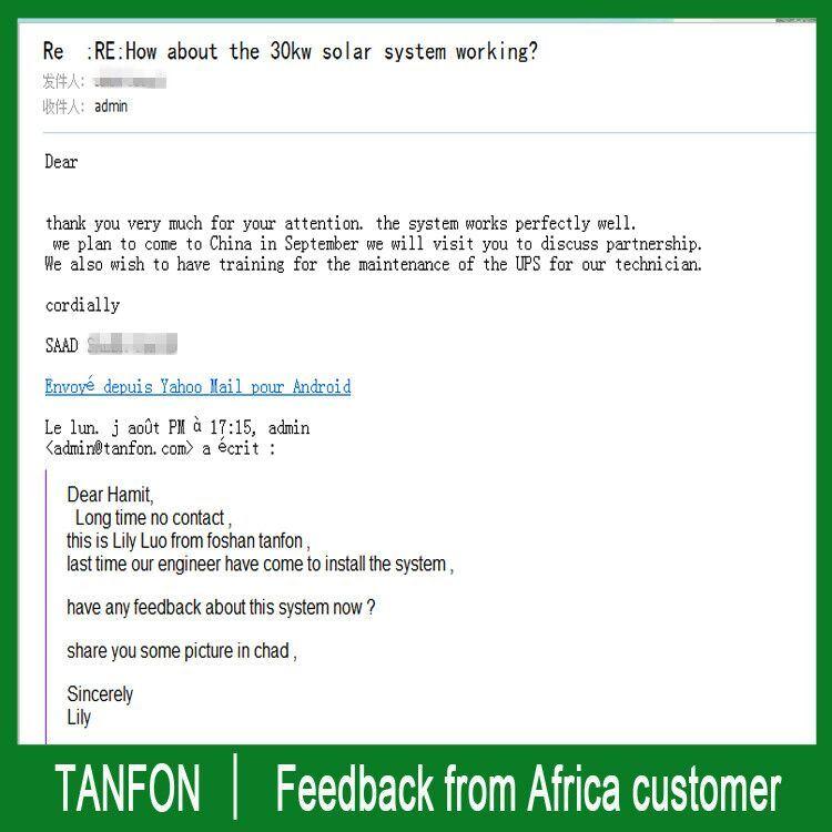China Tanfon Solar Power System With Optimum Usage To