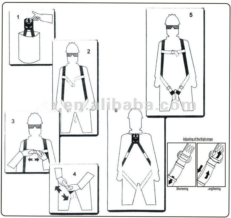 china ppe safety harness kit for roofer tower workers with
