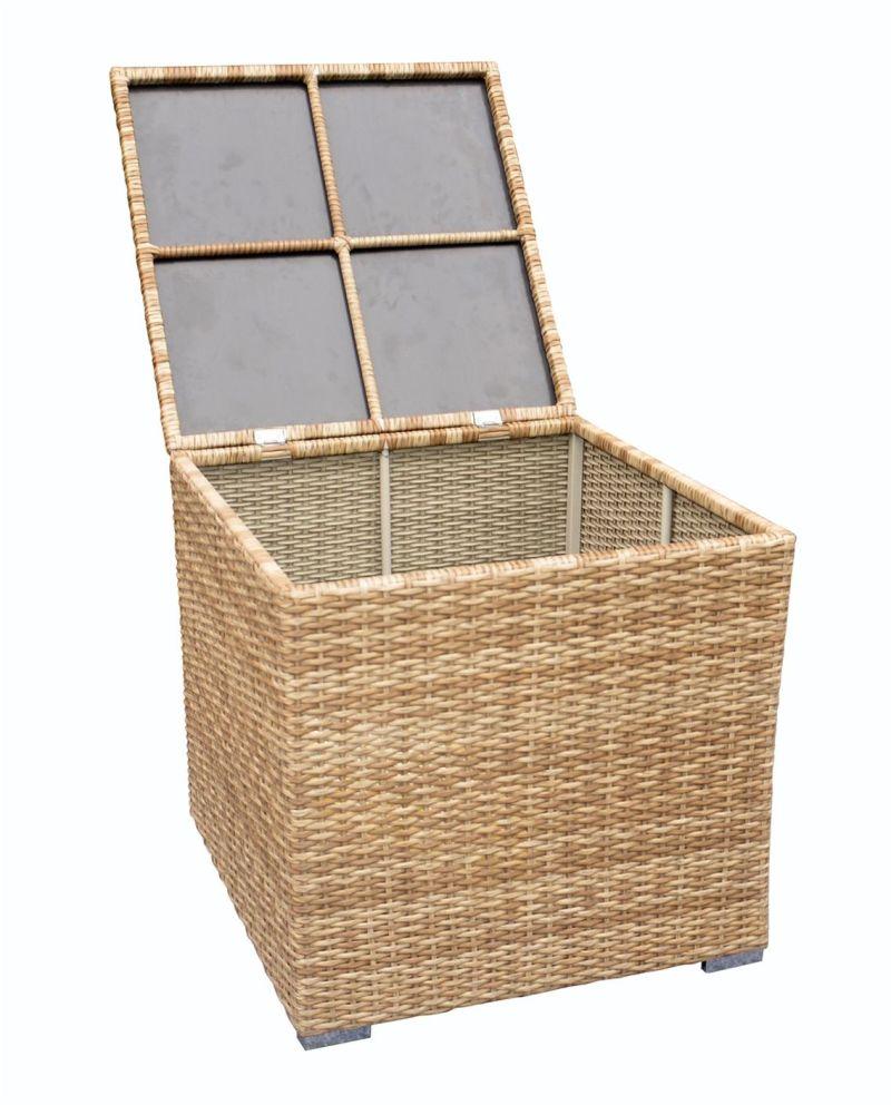 De openlucht doos van de opslag van de rotan van de vrije tijd de openlucht doos van de opslag - Meubilair storage zwart ...