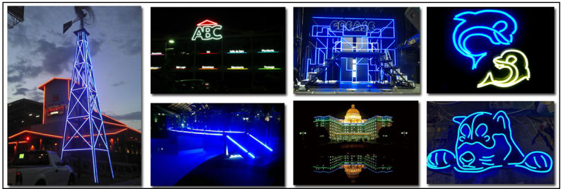 AC110V RGB LED Neon with SMD5050 LED Chips
