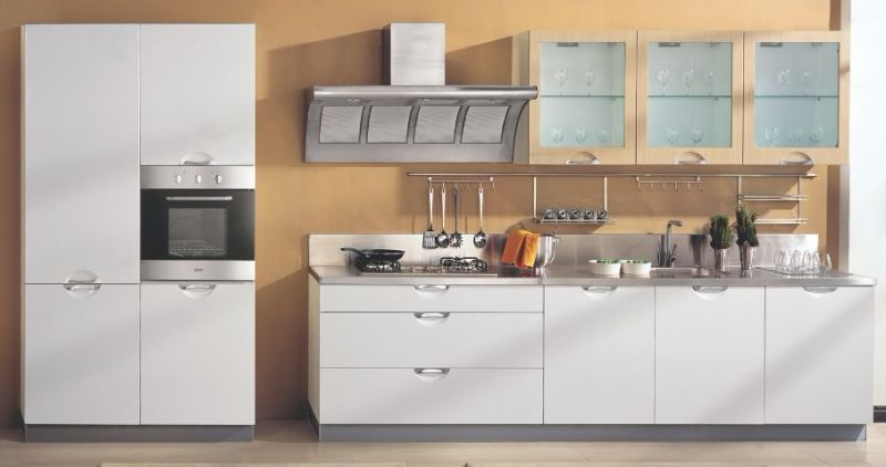 Solid Semi Pvc Kitchen Cabinet Doors With Modern Style
