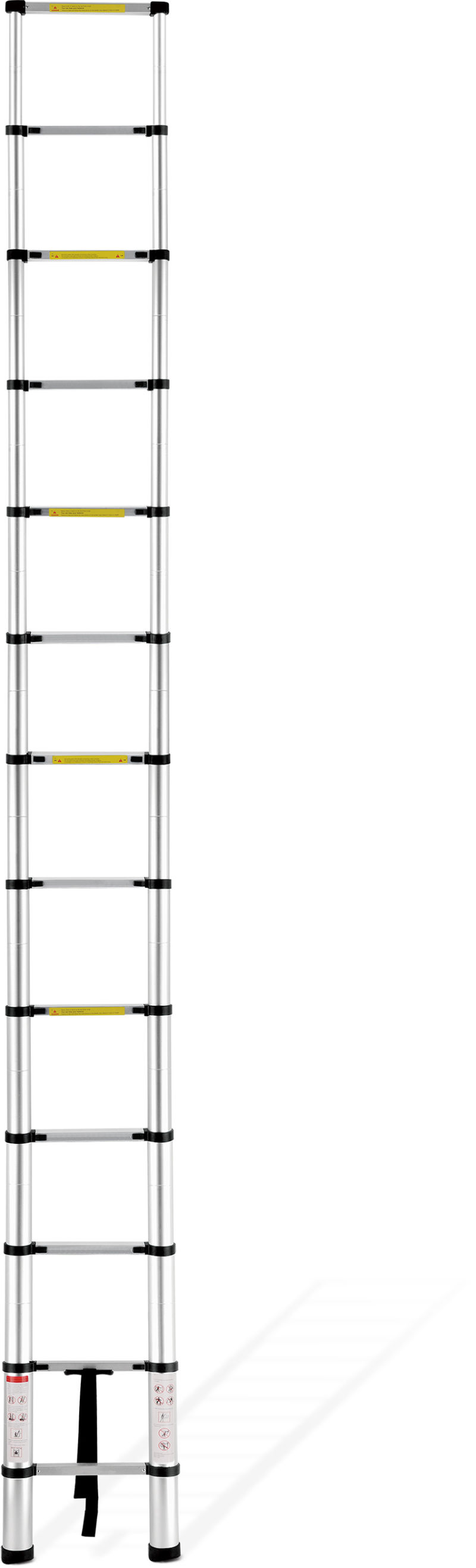 China 3 85m Telescopic Ladder With 3 Cm Finger Safety Gap