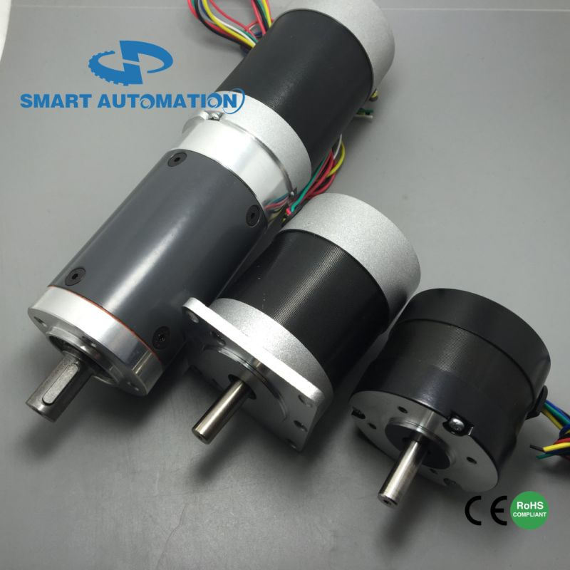 China 57mm 12v 24v 36v 48v electric dc brushless motor for Geared brushless dc motor